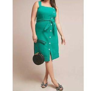 Maeve Elizabeth Button Front Jumper Dress NEW